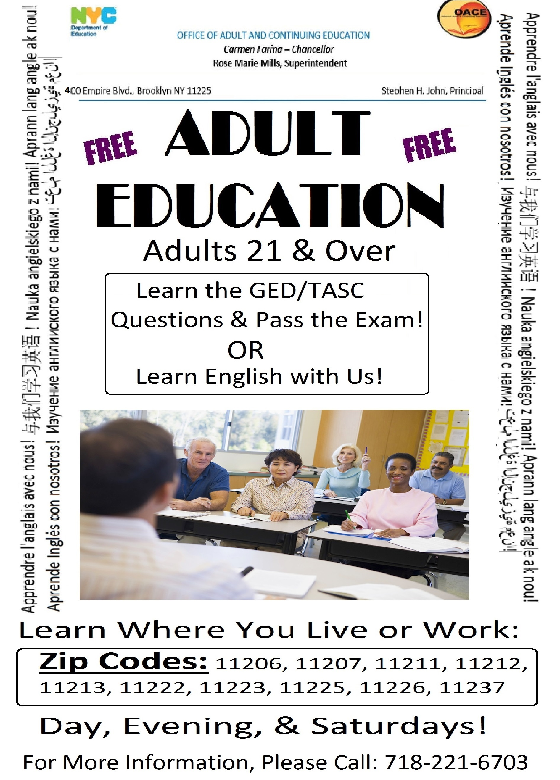 Senior adults educational programs for