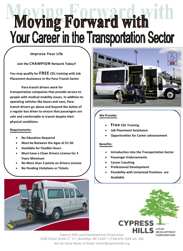 Job training programs brooklyn community board 14 brooklyn commercial drivers cdl license course malvernweather Images
