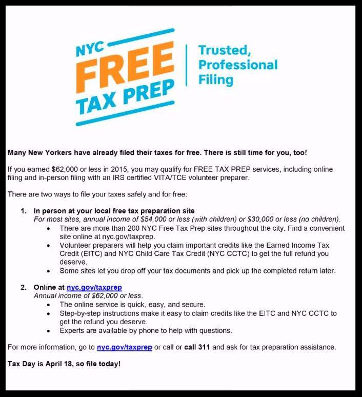 free tax prep for nyc residents | brooklyn community board 14 ...